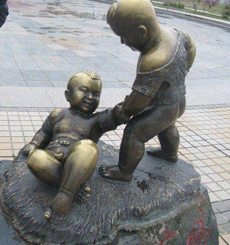 茄子河铸铜雕塑