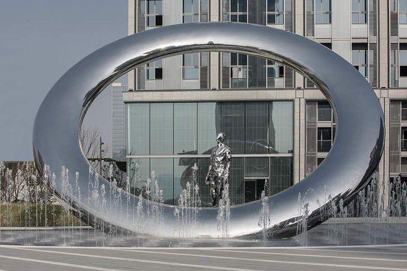 临泉不锈钢景观雕塑